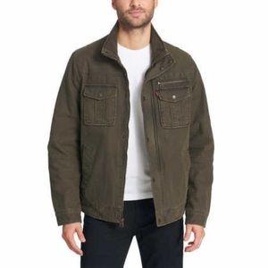Men's Levi's Green Military Trucker Field Jacket